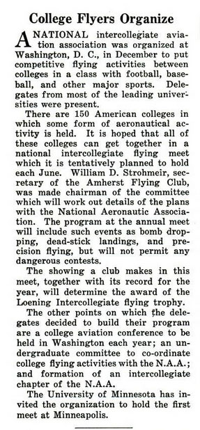 NIFA History: Popular Aviation, May 1935